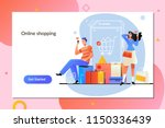 online shopping. e commerce and ... | Shutterstock .eps vector #1150336439