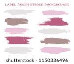isolated label brush stroke... | Shutterstock .eps vector #1150336496