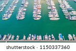 aerial view of yacht marina | Shutterstock . vector #1150337360