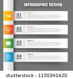 infographics tab in horizontal... | Shutterstock .eps vector #1150341620