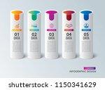 tube infographics with 5 data...   Shutterstock .eps vector #1150341629
