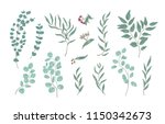 bundle of elegant detailed... | Shutterstock .eps vector #1150342673