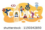 coding concept. programming and ... | Shutterstock .eps vector #1150342850