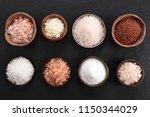 pink salt himalayan see salt... | Shutterstock . vector #1150344029