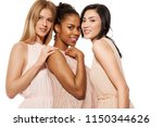 portrait of mixed races young... | Shutterstock . vector #1150344626