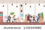 office fun. people work in... | Shutterstock .eps vector #1150345880