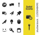 universal icons set with fork ... | Shutterstock .eps vector #1150348490