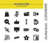 user icons set with computer ...