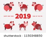 pig is a symbol of the 2019... | Shutterstock . vector #1150348850