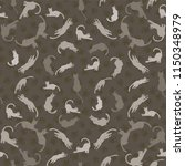 cats silhouettes vector pattern ... | Shutterstock .eps vector #1150348979