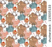 vector seamless pattern with... | Shutterstock .eps vector #115035133