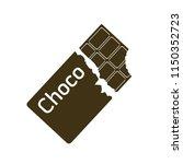 bitten chocolate bar icon | Shutterstock .eps vector #1150352723