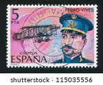 spain   circa 1980  stamp... | Shutterstock . vector #115035556
