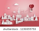 concept of valentine's day and... | Shutterstock .eps vector #1150355753