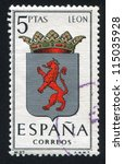 spain   circa 1964  stamp... | Shutterstock . vector #115035928