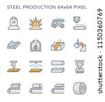 steel and metal production... | Shutterstock .eps vector #1150360769