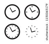 clock vector icon | Shutterstock .eps vector #1150365179