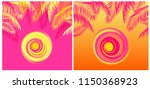 summery t shirt tropical prints ... | Shutterstock .eps vector #1150368923