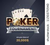 casino poker tournament banner. ... | Shutterstock .eps vector #1150370540