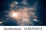 abstract blue background.... | Shutterstock . vector #1150370573