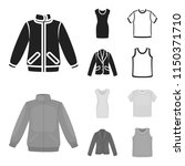 a mans jacket  a tunic  a t... | Shutterstock .eps vector #1150371710