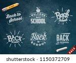 back to school set of banners.... | Shutterstock .eps vector #1150372709