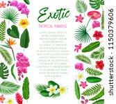 vector tropical poster. exotic... | Shutterstock .eps vector #1150379606