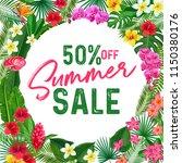 summer sale banner or poster.... | Shutterstock .eps vector #1150380176