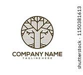 tree art deco logo design   Shutterstock .eps vector #1150381613