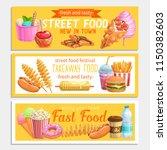street food banners. takeaway... | Shutterstock .eps vector #1150382603