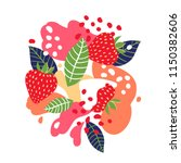 strawberries on abstract... | Shutterstock .eps vector #1150382606