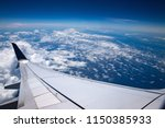 high altitude. sky  clouds and... | Shutterstock . vector #1150385933