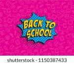 phrase back to school in retro... | Shutterstock .eps vector #1150387433