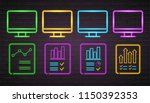 computer screen info graphic... | Shutterstock .eps vector #1150392353