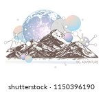 trendy color geometric abstract ... | Shutterstock .eps vector #1150396190