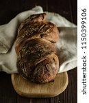 homemade rye bread. rustic... | Shutterstock . vector #1150399106