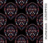 geometric  hand drawn seamless... | Shutterstock .eps vector #1150399553