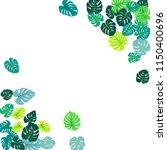 teal green tropical jungle... | Shutterstock .eps vector #1150400696
