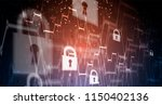 cybersecurity and information... | Shutterstock .eps vector #1150402136