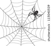 a spiderweb with spider on... | Shutterstock . vector #115040539