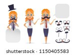 cute girl character with... | Shutterstock .eps vector #1150405583