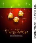 Three Golden Christmas Balls...
