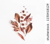 autumn composition. pattern... | Shutterstock . vector #1150418129