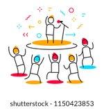 vector business illustration of ... | Shutterstock .eps vector #1150423853