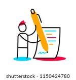 vector business illustration of ... | Shutterstock .eps vector #1150424780