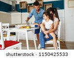 young parents with they... | Shutterstock . vector #1150425533