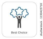 best choice line icon. client... | Shutterstock .eps vector #1150425710