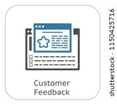 customer feedback line icon.... | Shutterstock .eps vector #1150425716