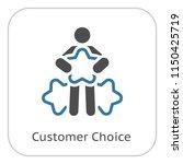 customer choice line icon.... | Shutterstock .eps vector #1150425719