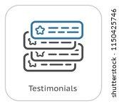 testimonials icon. client...